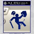 Funny Warrior Video Game D1 Decal Sticker Blue Vinyl 120x120