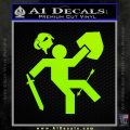 Funny Warrior Video Game D1 Decal Sticker Lime Green Vinyl 120x120