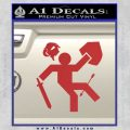 Funny Warrior Video Game D1 Decal Sticker Red 120x120
