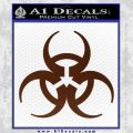 Futuristic Biohazard Decal Sticker D1 BROWN Vinyl 120x120