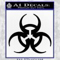 Futuristic Biohazard Decal Sticker D1 Black Vinyl 120x120