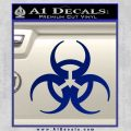 Futuristic Biohazard Decal Sticker D1 Blue Vinyl 120x120