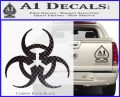 Futuristic Biohazard Decal Sticker D1 Carbon FIber Black Vinyl 120x97