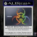 Futuristic Biohazard Decal Sticker D1 Glitter Sparkle 120x120