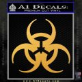Futuristic Biohazard Decal Sticker D1 Gold Vinyl 120x120