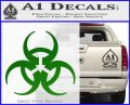 Futuristic Biohazard Decal Sticker D1 Green Vinyl Logo 120x97