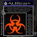 Futuristic Biohazard Decal Sticker D1 Orange Emblem 120x120
