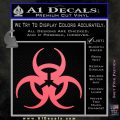 Futuristic Biohazard Decal Sticker D1 Pink Emblem 120x120