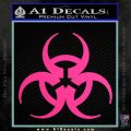 Futuristic Biohazard Decal Sticker D1 Pink Hot Vinyl 120x120