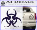 Futuristic Biohazard Decal Sticker D1 PurpleEmblem Logo 120x97