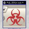 Futuristic Biohazard Decal Sticker D1 Red 120x120