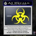 Futuristic Biohazard Decal Sticker D1 Yellow Laptop 120x120