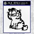 Garfield Decal Sticker Sitting Black Vinyl 120x120