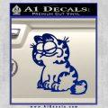 Garfield Decal Sticker Sitting Blue Vinyl 120x120