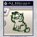 Garfield Decal Sticker Sitting Dark Green Vinyl 120x120