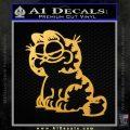 Garfield Decal Sticker Sitting Gold Vinyl 120x120