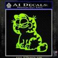 Garfield Decal Sticker Sitting Lime Green Vinyl 120x120