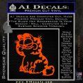 Garfield Decal Sticker Sitting Orange Emblem 120x120