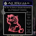 Garfield Decal Sticker Sitting Pink Emblem 120x120