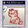 Garfield Decal Sticker Sitting Red 120x120