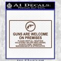 Guns Are Welcome Sticker Decal BROWN Vinyl 120x120