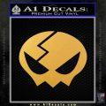 Gurren Lagann Yokos Skull Hair Clip Decal Sticker Gold Vinyl 120x120