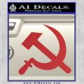 Hammer and Sickle Decal Sticker Red 120x120