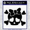 Heart Skull Cross and Crossbones Decal Sticker D2 Black Vinyl 120x120