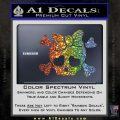 Heart Skull Cross and Crossbones Decal Sticker D2 Glitter Sparkle 120x120