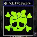 Heart Skull Cross and Crossbones Decal Sticker D2 Lime Green Vinyl 120x120