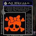 Heart Skull Cross and Crossbones Decal Sticker D2 Orange Emblem 120x120