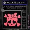 Heart Skull Cross and Crossbones Decal Sticker D2 Pink Emblem 120x120