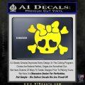 Heart Skull Cross and Crossbones Decal Sticker D2 Yellow Laptop 120x120