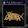 Heathen Jesus Fish Decal Sticker Gold Vinyl 120x120
