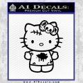 Hello Kitty Zombie Simple Decal Sticker Black Vinyl Black 120x120