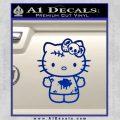 Hello Kitty Zombie Simple Decal Sticker Blue Vinyl Black 120x120