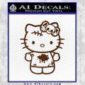 Hello Kitty Zombie Simple Decal Sticker Brown Vinyl Black 120x120