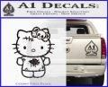 Hello Kitty Zombie Simple Decal Sticker CFB Vinyl Black 120x97
