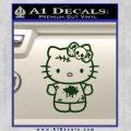 Hello Kitty Zombie Simple Decal Sticker Dark Green Vinyl Black 120x120