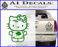 Hello Kitty Zombie Simple Decal Sticker Green Vinyl Black 120x97