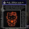 Hello Kitty Zombie Simple Decal Sticker Orange Emblem Black 120x120