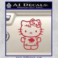 Hello Kitty Zombie Simple Decal Sticker Red Vinyl Black 120x120