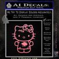 Hello Kitty Zombie Simple Decal Sticker Soft Pink Emblem Black 120x120