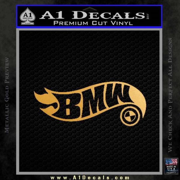 Hot Wheels Bmw D1 Decal Sticker Gold Metallic Vinyl Black