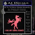 I Do My Own Stunts Decal Sticker Pink Emblem 120x120