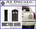 I TARDIS Doctor Who Decal Sticker Carbon FIber Black Vinyl 120x97
