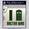 I TARDIS Doctor Who Decal Sticker Dark Green Vinyl 120x120