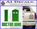 I TARDIS Doctor Who Decal Sticker Green Vinyl Logo 120x97