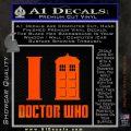 I TARDIS Doctor Who Decal Sticker Orange Emblem 120x120