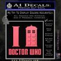 I TARDIS Doctor Who Decal Sticker Pink Emblem 120x120